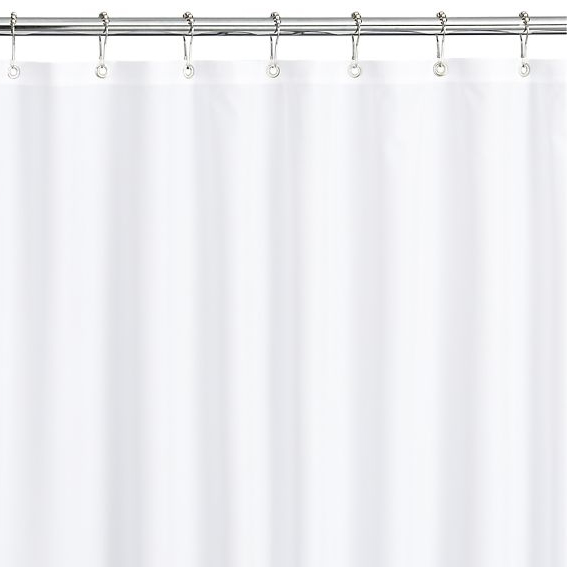 10 Gauge Vinyl Shower Curtain, 6x6, White